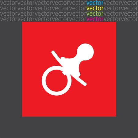 pacifier: pacifier nipple icon Illustration