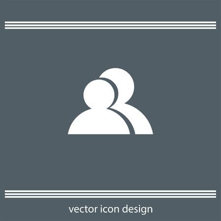 two people: two people icon Illustration