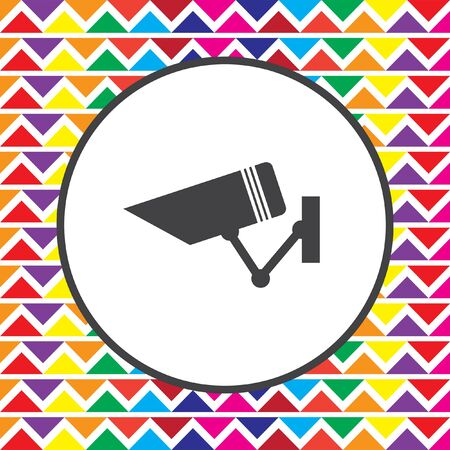 private viewing: security surveillance camera icon Illustration