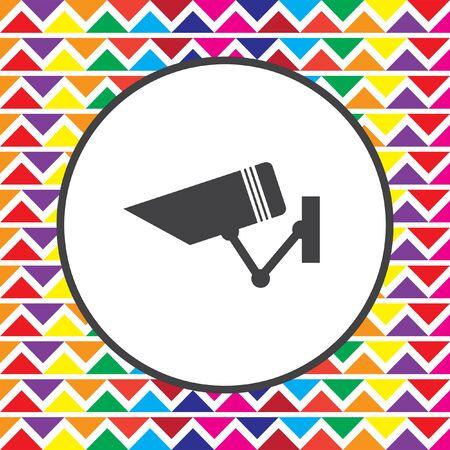 surveillance camera: security surveillance camera icon Illustration