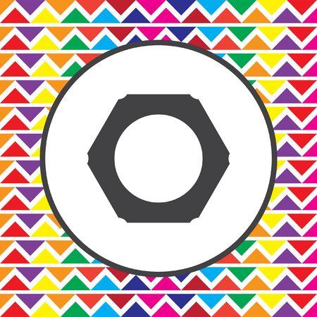 nut: nut icon Illustration