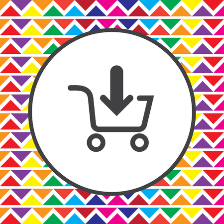 add: add to shopping cart icon Illustration