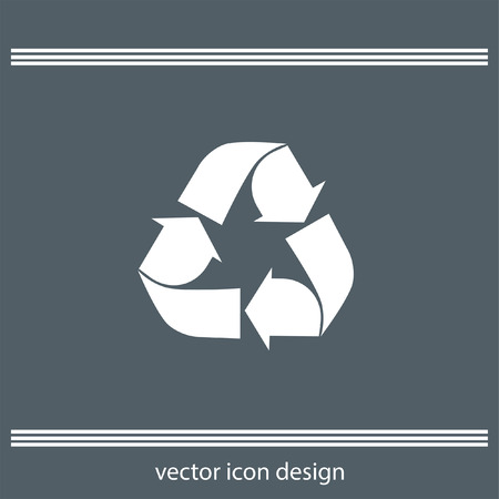 recycling: recycle icon Illustration