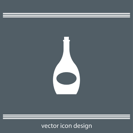 dinner party: wine bottle icon