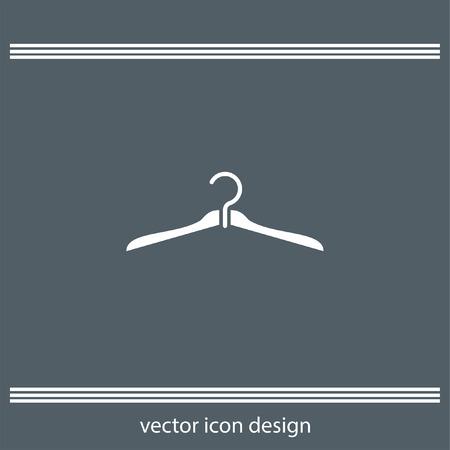clothing rack: hanger icon Illustration