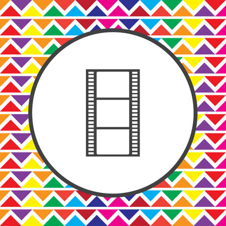 movie film: movie film strip icon