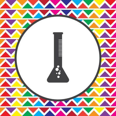 the tube: laboratory test tube icon