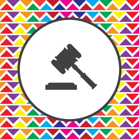 martillo juez: icono del martillo juez Vectores