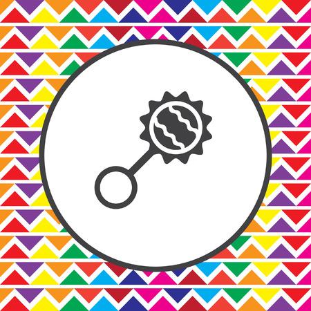 sonaja: icono sonajero Vectores