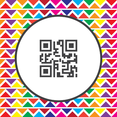 qr: qr code icon Illustration