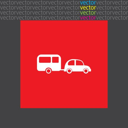 trailer: car and trailer icon