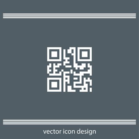 qr: qr code icon Illustration