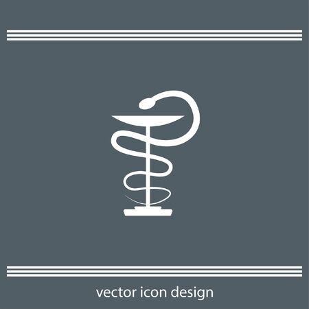 pharmacy symbol: pharmacy snake symbol icon Illustration