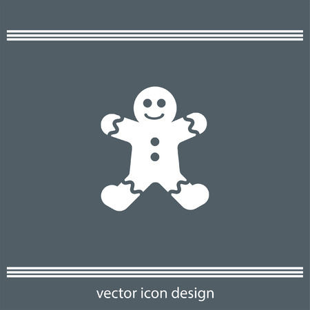gingerbread: gingerbread icon Illustration