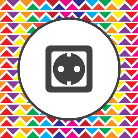 wall socket: power socket icon