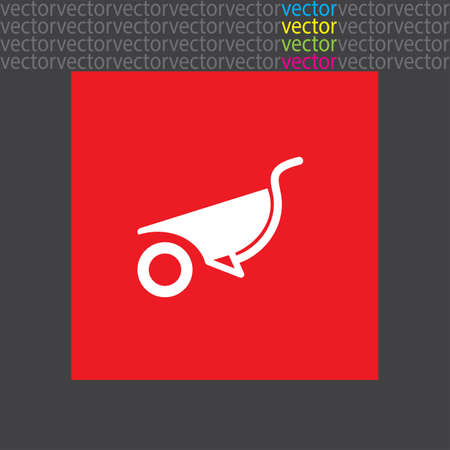 wheelbarrow: wheelbarrow icon Illustration
