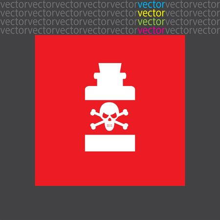 poison: bottle with poison icon Illustration