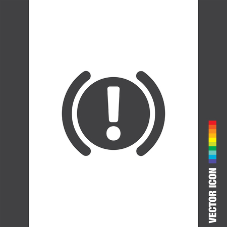 staying in shape: car parking brake signal vector icon