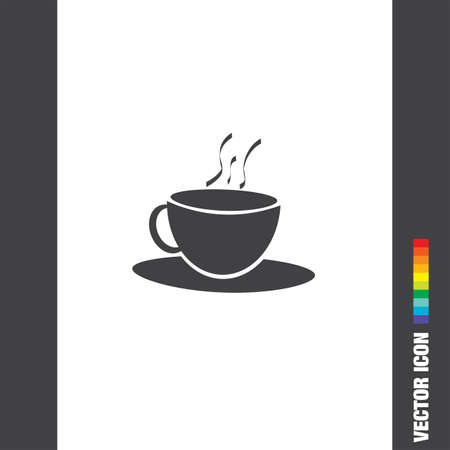 eatery: coffee cup vector icon Illustration