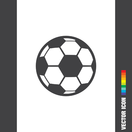 soccer ball vector icon Illustration