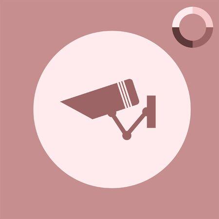 security icon: security surveillance camera vector icon Illustration
