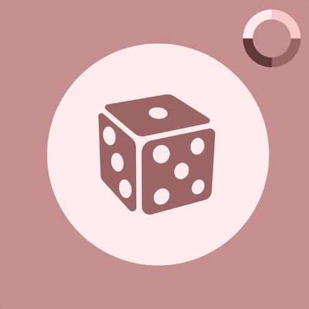 gambling dice vector icon
