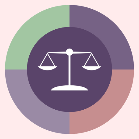 to weigh: scales vector icon Illustration