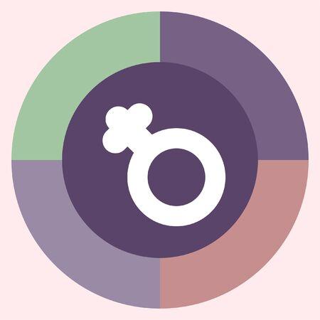 gender symbol: female gender symbol vector icon