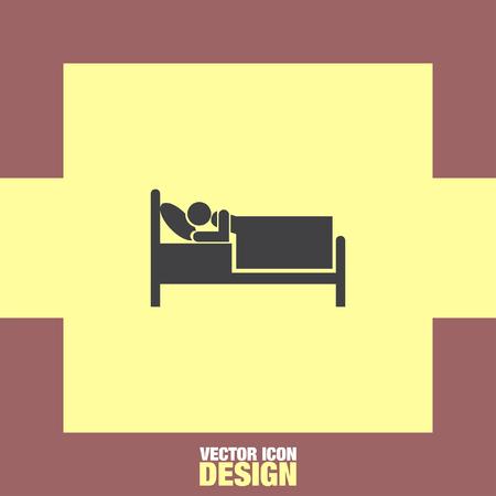 motel: bed hotel motel vector icon