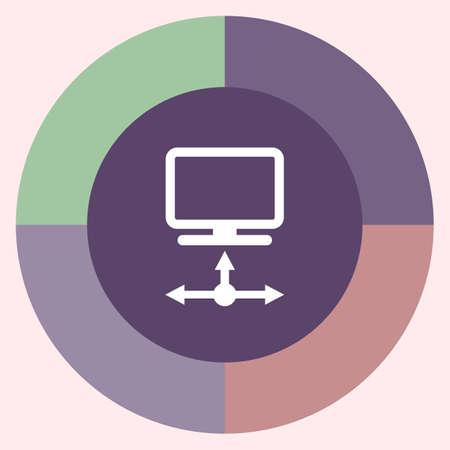 storage device: data transfer vector icon