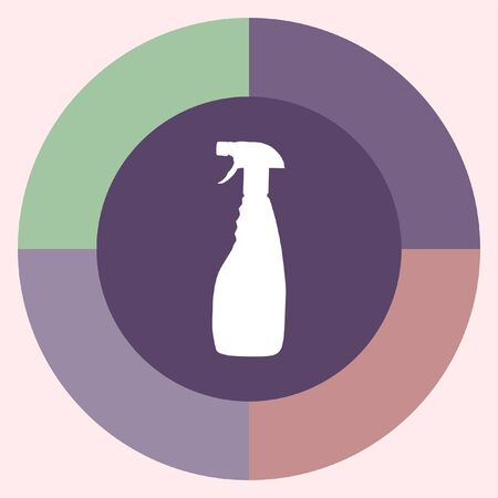 household cleaning: household cleaning bottle vector icon