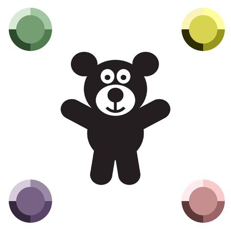 cute bear: teddy bear vector icon Illustration