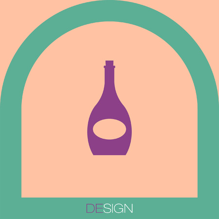 dinner party: wine bottle vector icon