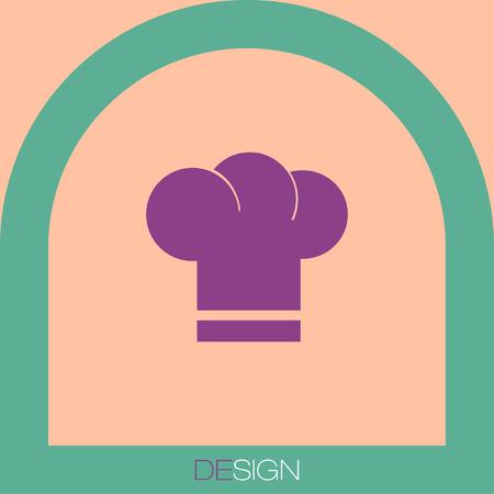 fine cuisine: chef hat vector icon Vettoriali