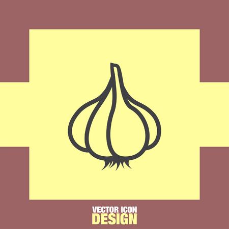 condiment: garlic vector icon Illustration
