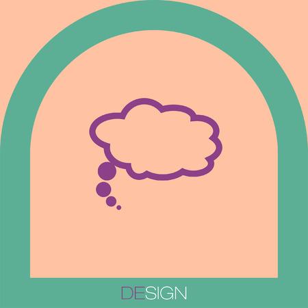 on white: speech bubble vector icon white Illustration
