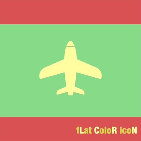 commercial airline: airplane vector icon logo Illustration