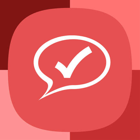 yes communication: speech bubble and ok sign vector icon
