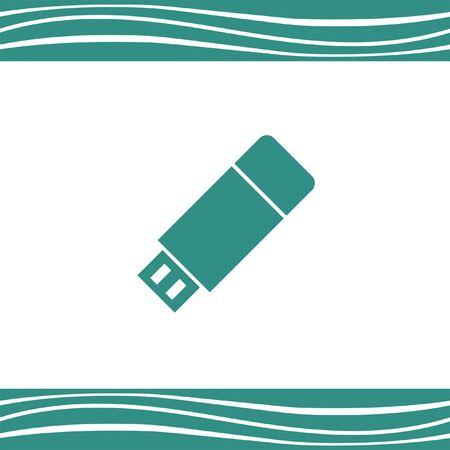storage device: usb stick vector icon