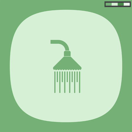 shower bath: shower vector icon