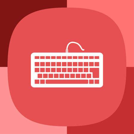 input device: keyboard vector icon Illustration