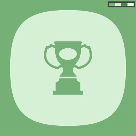 award: award trophy vector icon Illustration