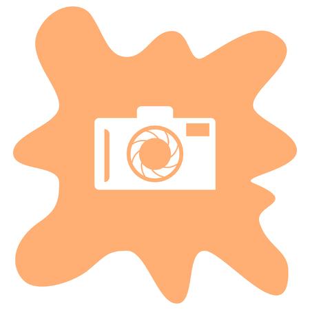 white person: camera vector icon Illustration