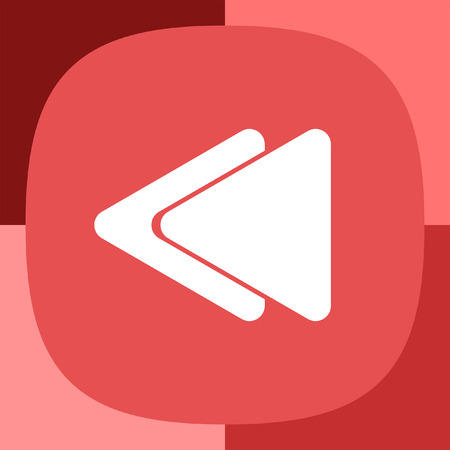 backward: fast backward button icon Illustration