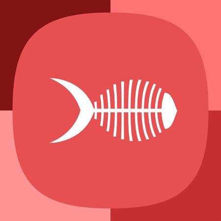 dead sea: fish bone icon
