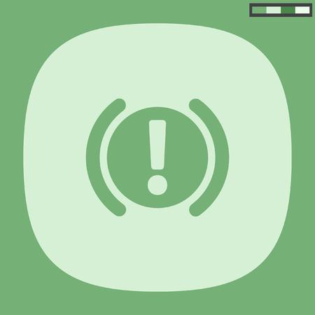 brake: car parking brake signal icon Illustration