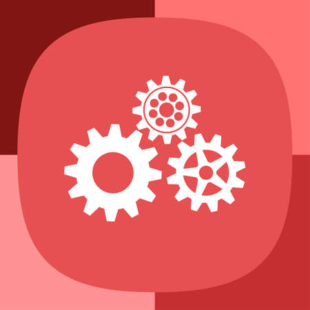 cogs and gears: gears icon