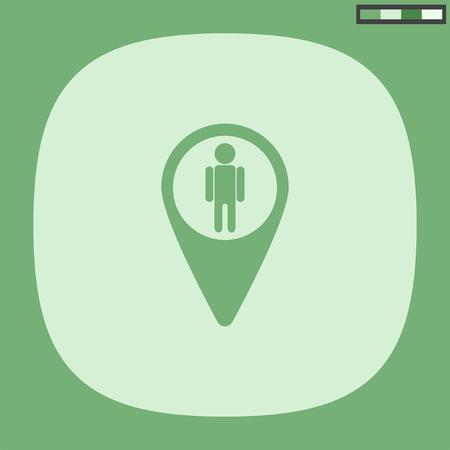 view icon: map pin street view icon Illustration