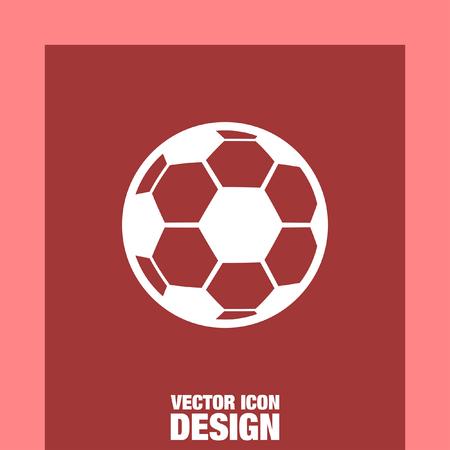 to soccer: soccer ball vector icon Illustration