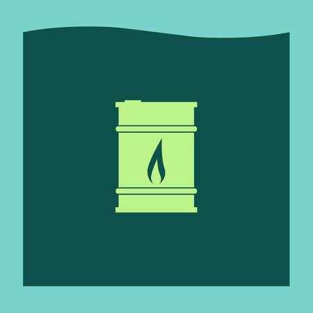 barril de petróleo: icono de vector barril de petróleo